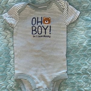 EUC 8 Baby Boy Onesies Size NewBorn